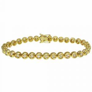 Rub-Over Tennis Bracelet