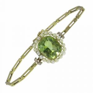 Peridot & Pearl Bracelet