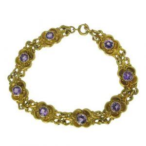 Gold & Amethyst Bracelet