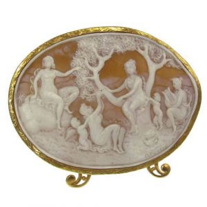 Carved Cameo with Stand