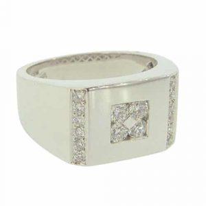 Gents Diamond Signet Ring