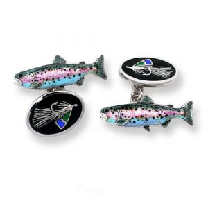 Silver Fly Fishing Cufflinks