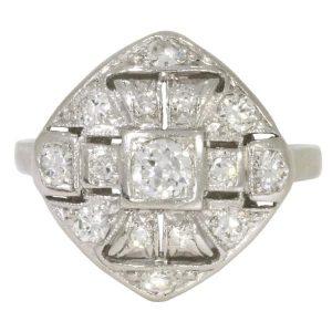 Platinum Deco Ring