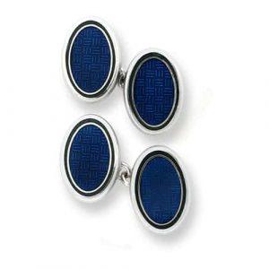Blue Enamel Cufflinks