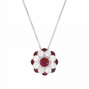 18ct Ruby & Diamond pendant