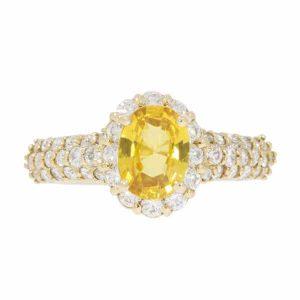 Yellow Sapphire & Diamond