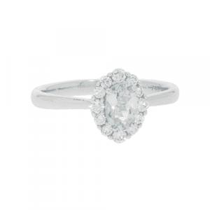 Aquamarine & Diamond Dress Ring