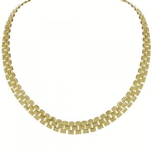 9ct Gold Brick Link Collarette