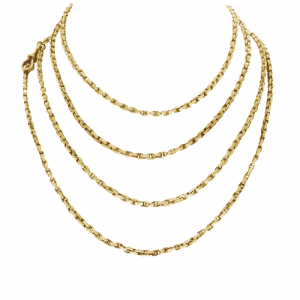 Rose Gold Victorian Guard Chain
