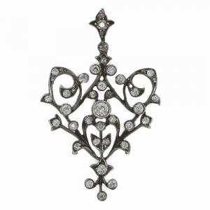 Victorian Diamond Open Work Pendant