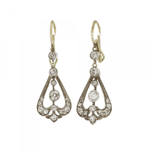 Victorian Pear Shaped Drop Earrings