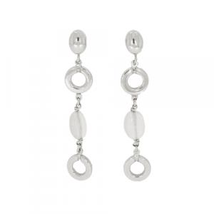 18ct White Gold & Quartz Drop Earrings