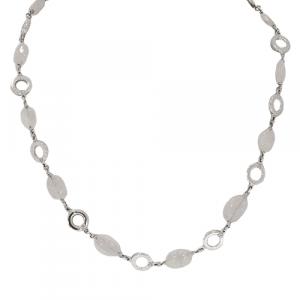 18ct White Gold & Quartz Necklace