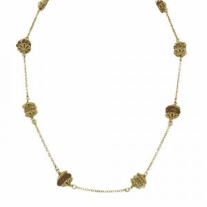 18ct Gold & Quartz Bead Necklace