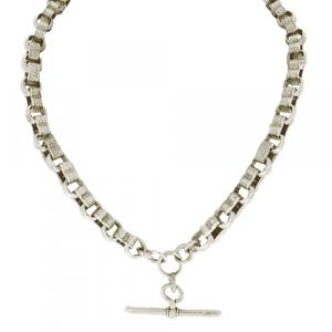 Sterling Silver Fancy Double Albert Chain