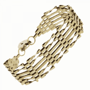 9ct Gold Bar Section Bracelet