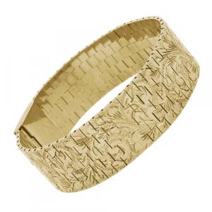 9ct Gold Brick Link Bracelet