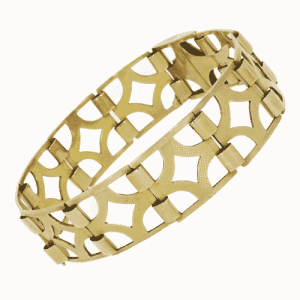 9ct Gold Pierced Square Section Bracelet