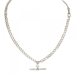 Sterling Silver Double Albert Chain