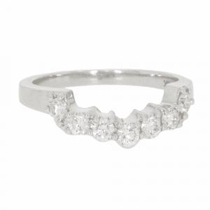 Diamond 7 Stone Shaped Half Eternity Ring