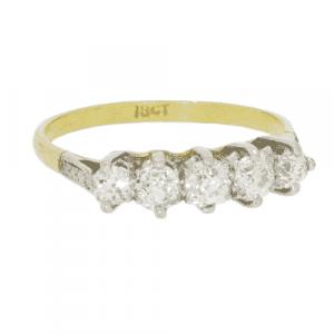 Diamond 5 Stone Ring