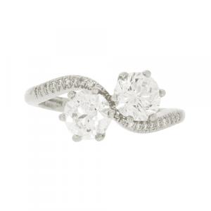 Certified Diamond Toi et Moi Ring