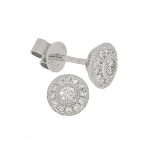 0.24ct Diamond Stud Cluster Earrings