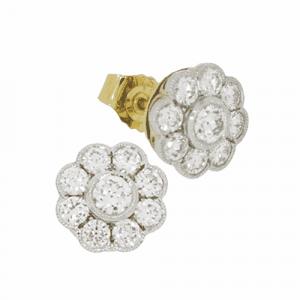 1.50ct Diamond Daisy Cluster Earrings
