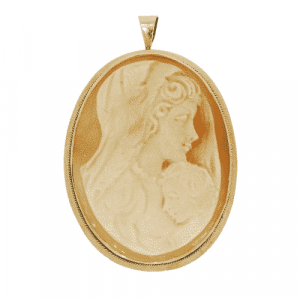 9ct Gold Cameo Pendant/ Brooch