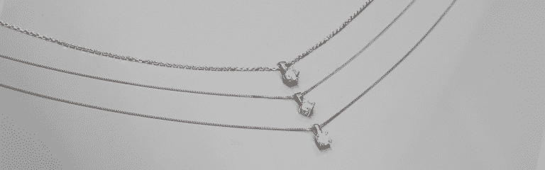 Solitaire necklaces